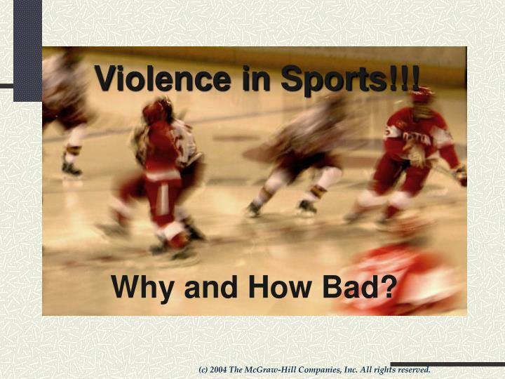 violence in sports essays Participate in: a basketball game or a volley ball game violence in sports by : leane capitano and hillary walsh spectator violence •spectator vs spectator = this is often the result of a few people that go to a sporting event specifically to start trouble brings in money interview 1 list your.