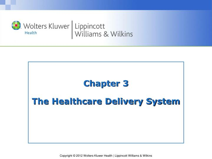 chapter 3 the healthcare delivery system n.
