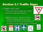 section 2 1 traffic signs