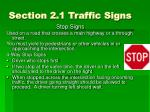 section 2 1 traffic signs1