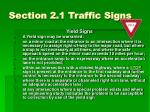 section 2 1 traffic signs2