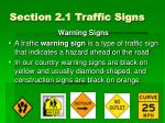 section 2 1 traffic signs4