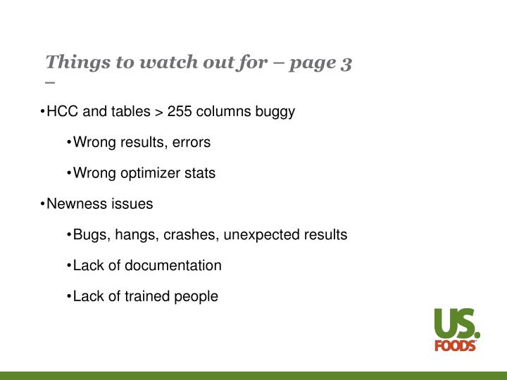 Things to watch out for – page 3