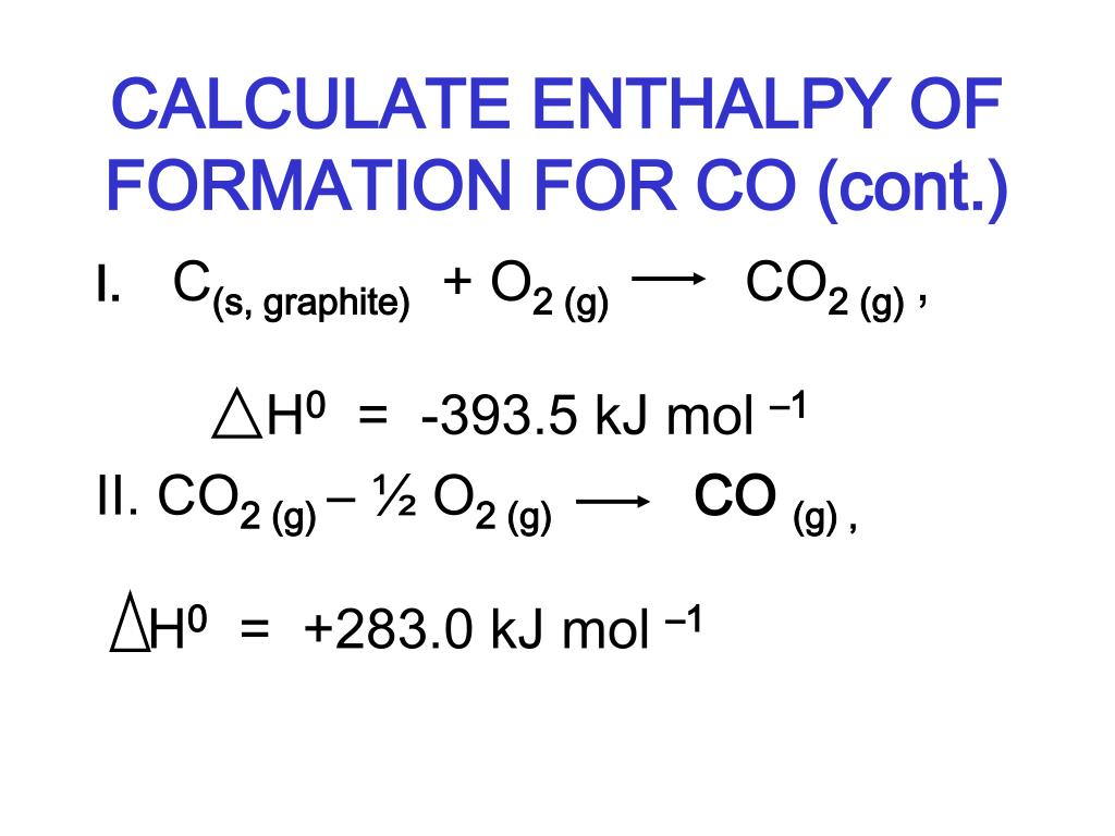 PPT - STANDARD MOLAR ENTHALPY OF FORMATION PowerPoint ...