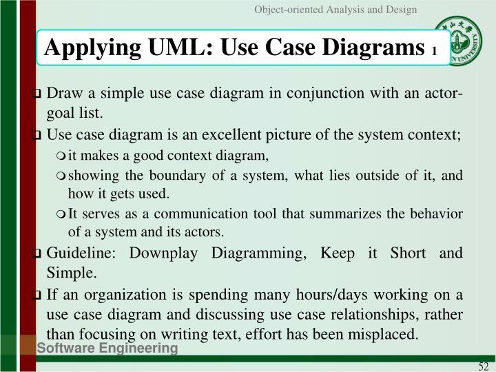 Applying UML: Use Case Diagrams