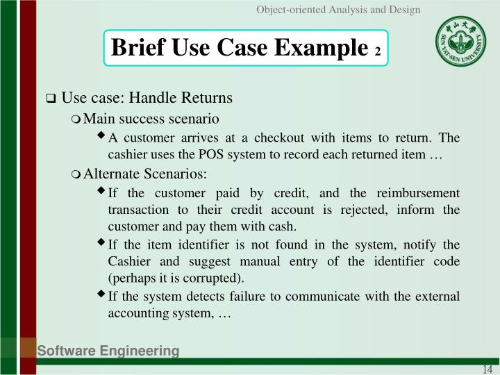 Brief Use Case Example