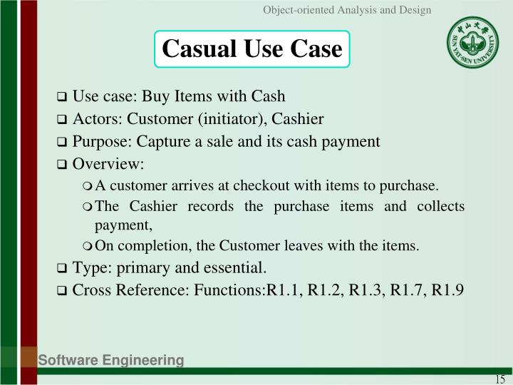 Casual Use Case
