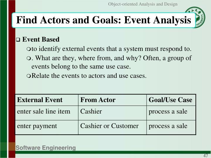 Find Actors and Goals: Event Analysis