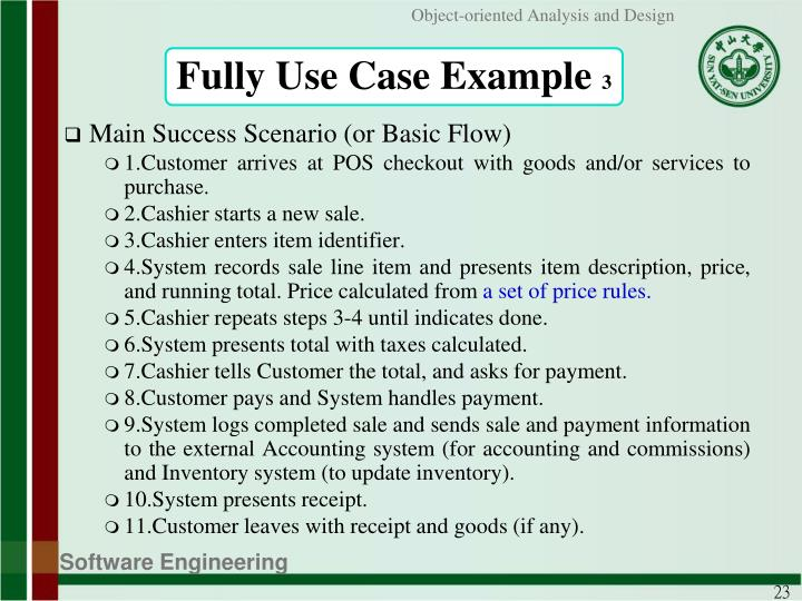 Fully Use Case Example