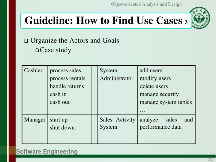 Guideline: How to Find Use Cases