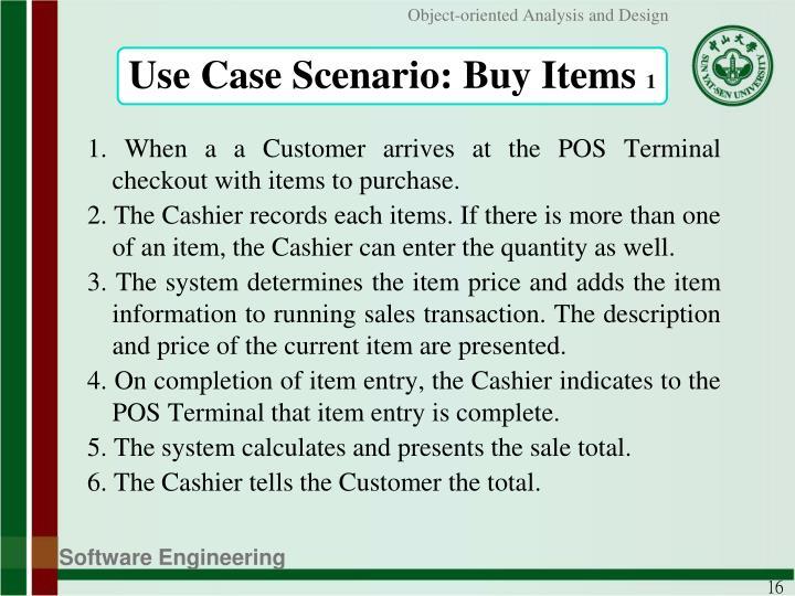 Use Case Scenario: Buy Items