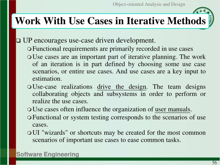 Work With Use Cases in Iterative Methods