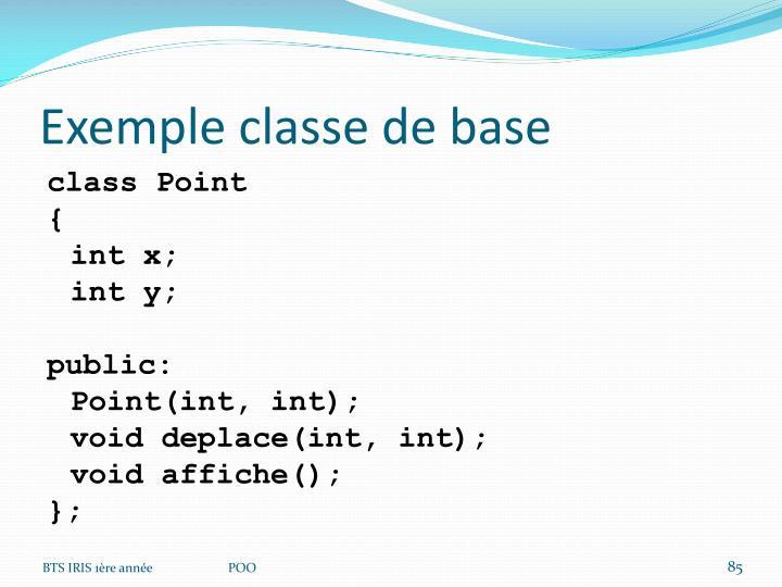 Exemple classe de base