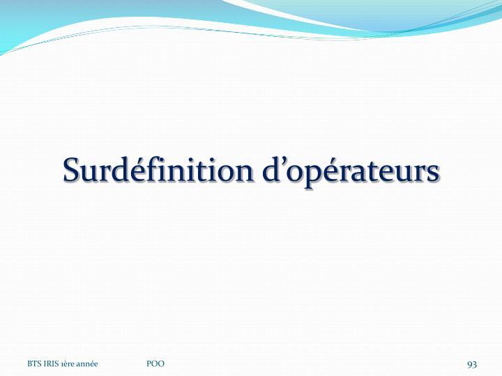 Surdéfinition