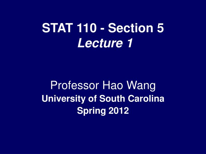 stat 110 section 5 lecture 1 n.