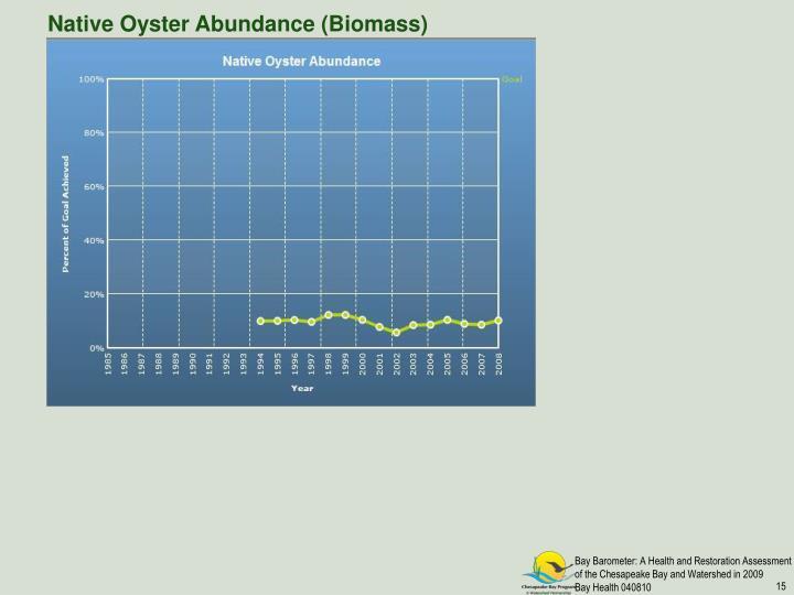 Native Oyster Abundance (Biomass)