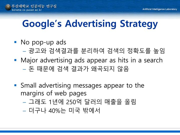 Google's Advertising Strategy