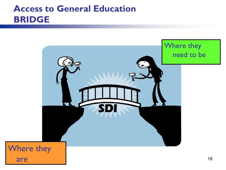 Access to General Education