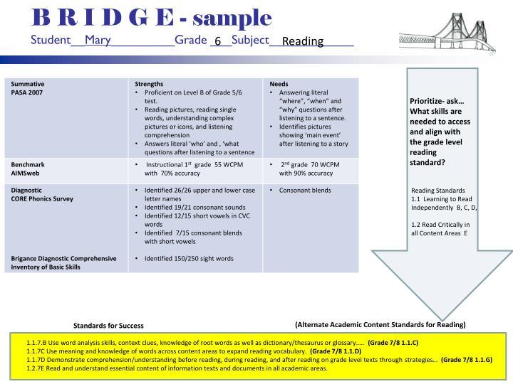 B R I D G E - sample