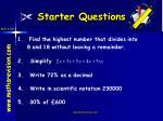 starter questions1
