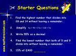 starter questions2