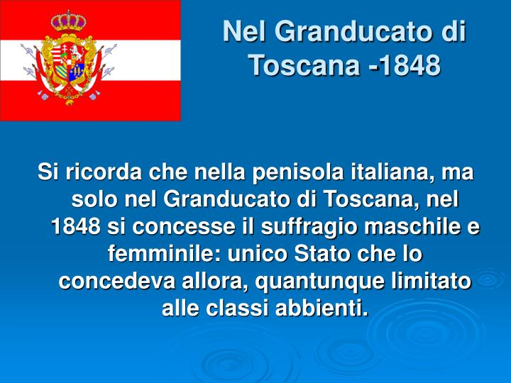 Nel Granducato di Toscana -1848