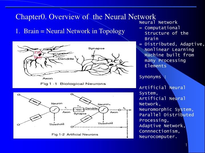 chapter0 overview of the neural network n.