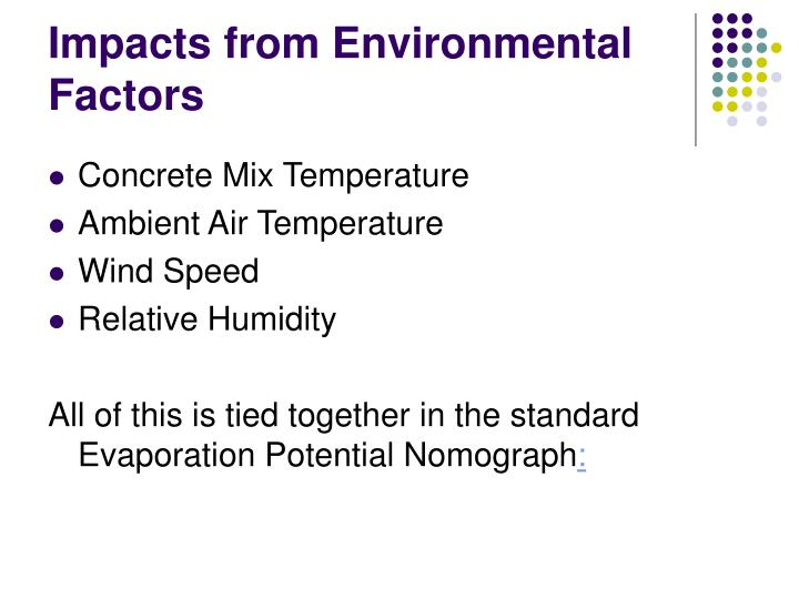 Impacts from Environmental Factors