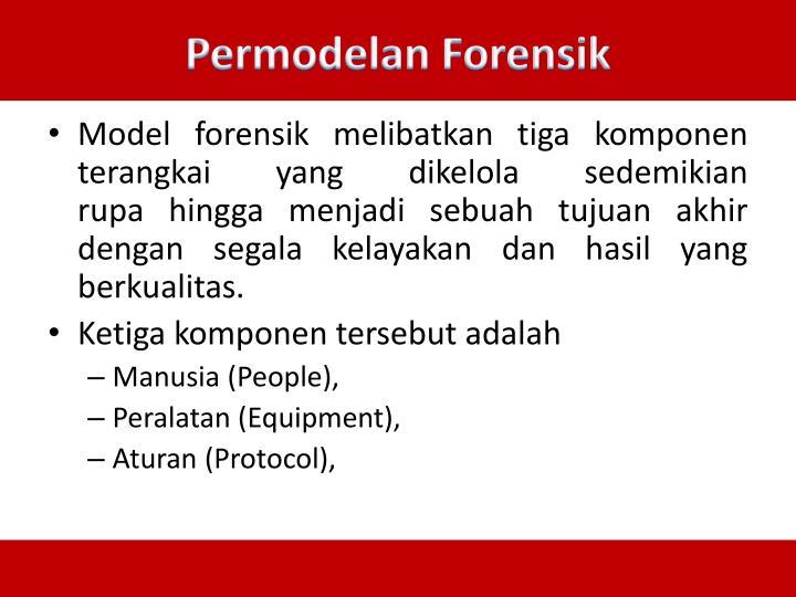 Permodelan Forensik