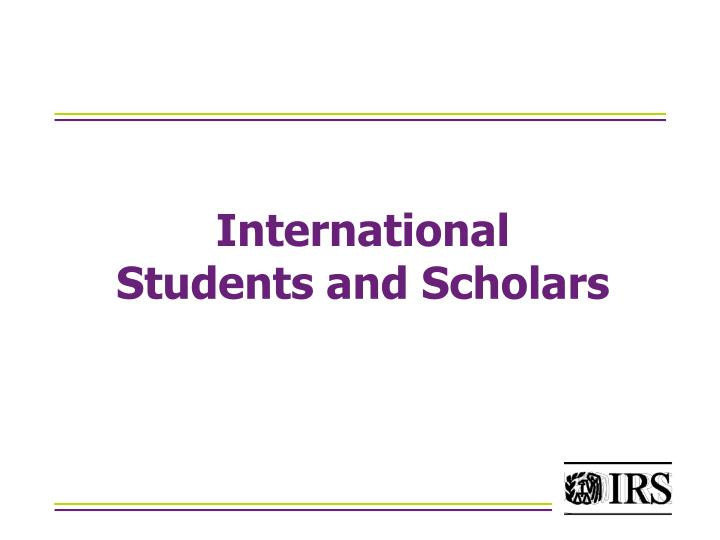 international students and scholars n.