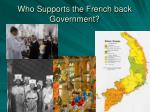 who supports the french back government