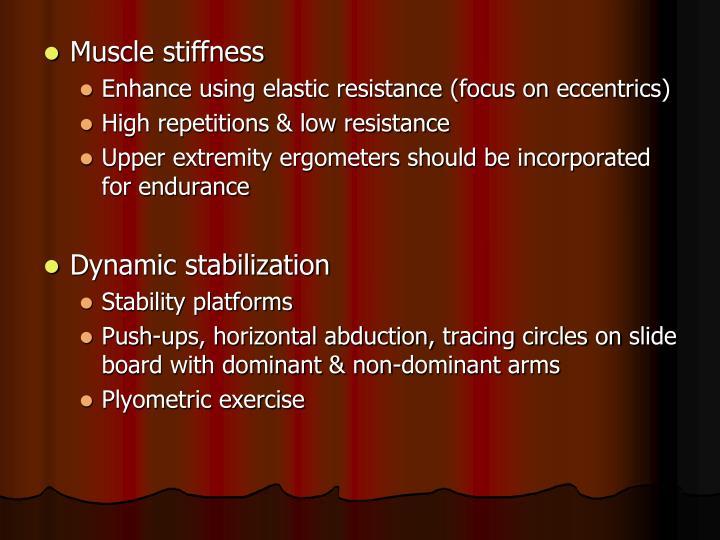 Muscle stiffness