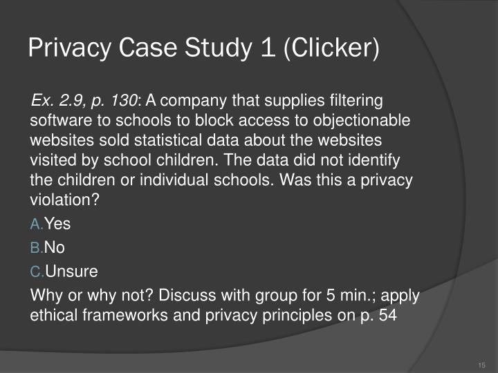 Privacy Case Study 1 (Clicker)