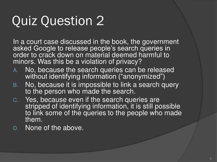 Quiz Question 2