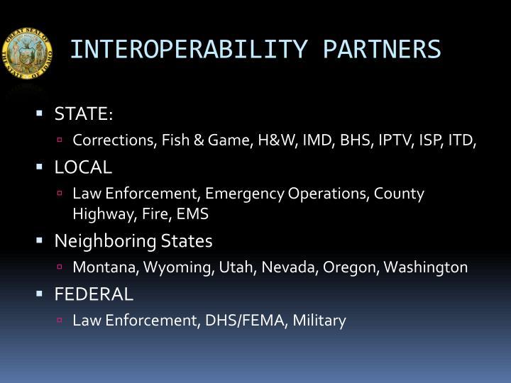 Interoperability partners