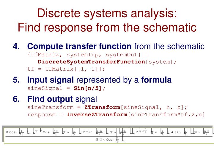 Discrete systems analysis: