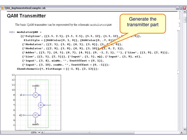 Generate the transmitter part