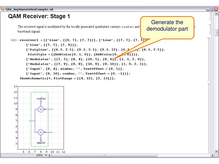 Generate the demodulator part