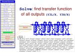 solve find transfer function of all outputs y3l x y3h x