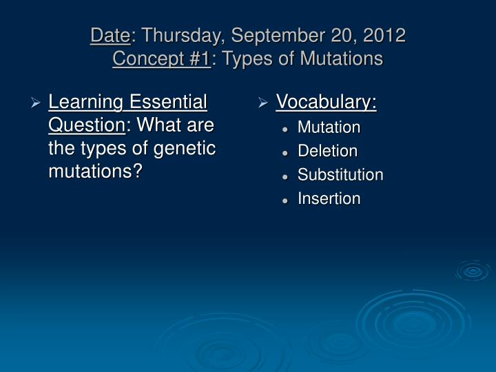 Learning Essential Question