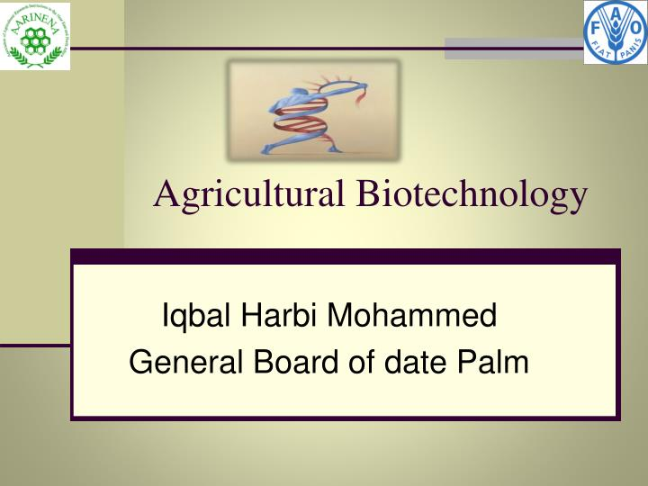 agricultural biotechnology n.