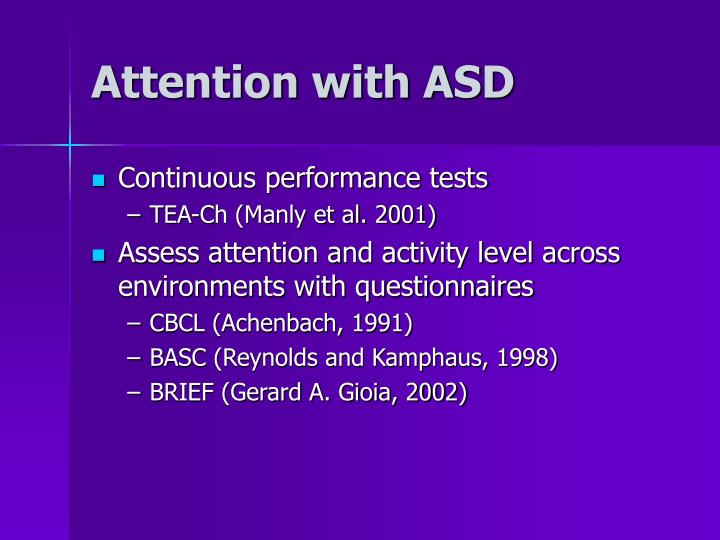Attention with ASD