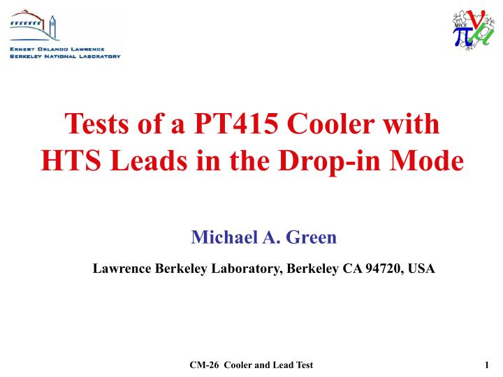 Tests of a PT415 Cooler with