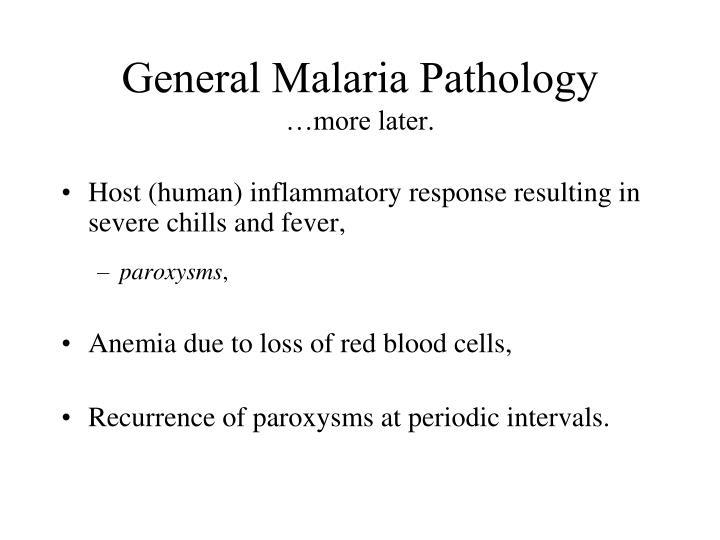 General Malaria Pathology