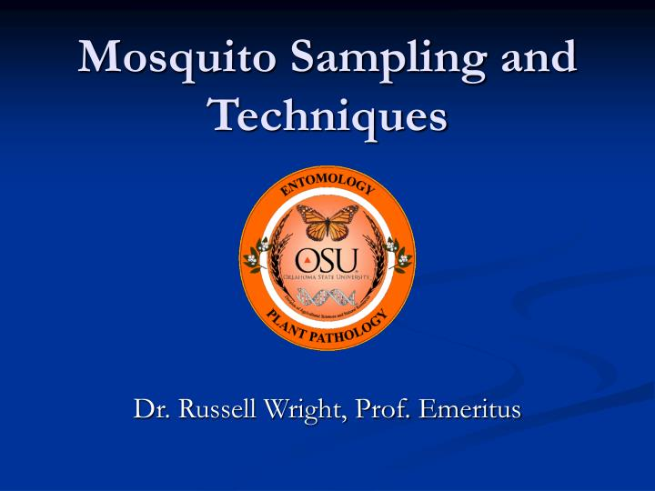 Mosquito sampling and techniques