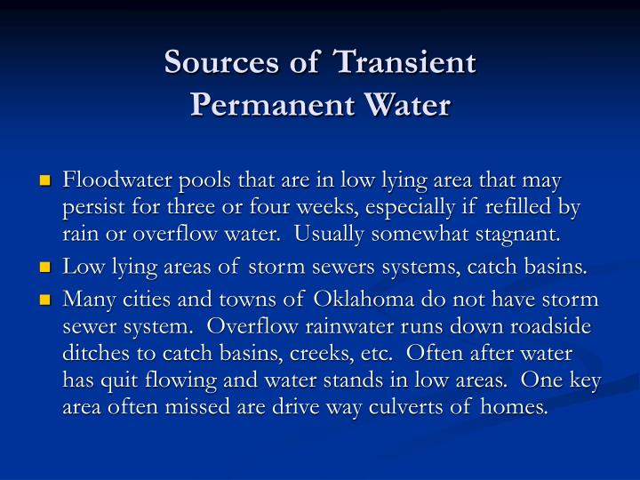 Sources of Transient