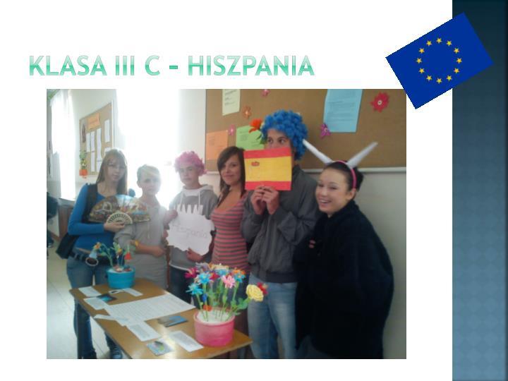 Klasa III C – Hiszpania