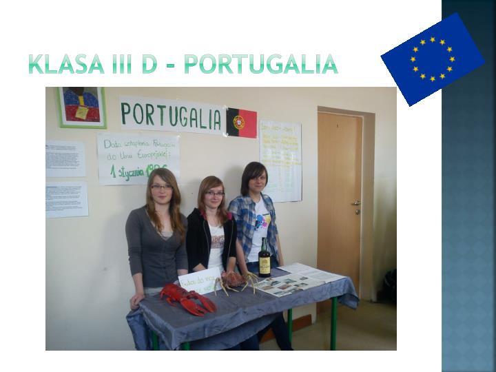 Klasa III d - Portugalia
