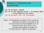 ejemplo 1 relaciones del contribuidor