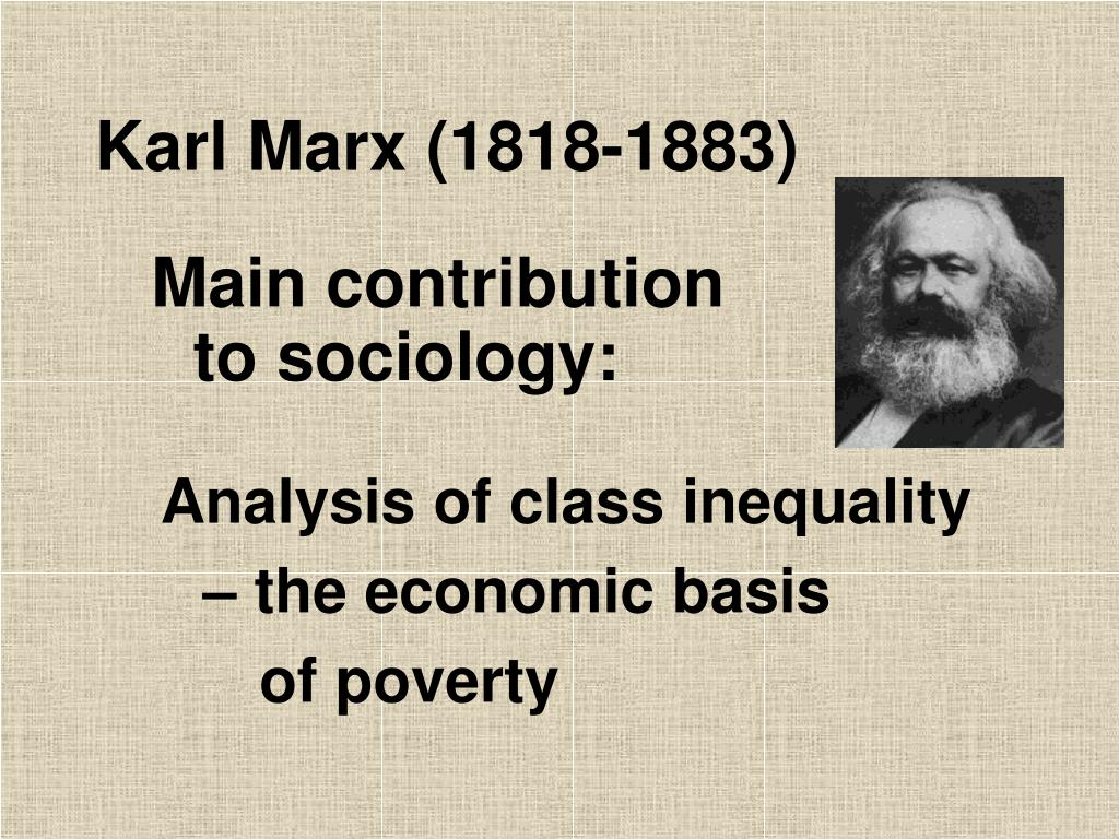 karl marx contributions to society